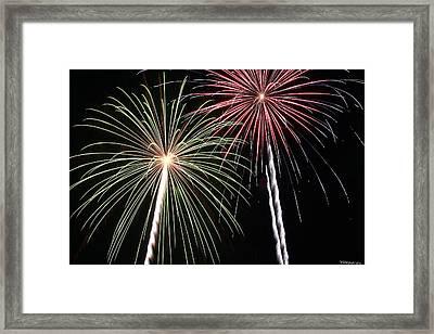 Fireworks 5 Framed Print by Andrew Nourse