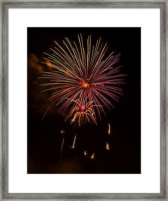 Fireworks 6 Framed Print by Chris Flees