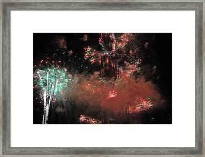 Burj Khalifa Fireworks 6 Framed Print