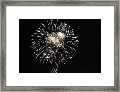 Fireworks 8 Framed Print by Christine Hafeman