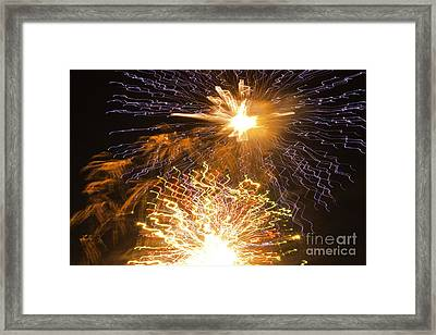 Fireworks Abstract 01 Framed Print