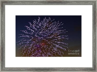Fireworks Abstract 02 Framed Print
