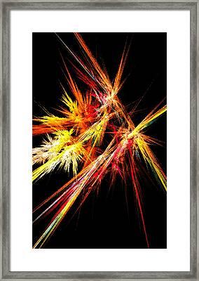 Fireworks Framed Print by Anastasiya Malakhova