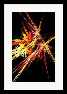 Pyrotechnic Mixed Media Framed Prints