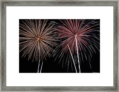 Fireworks Framed Print by Andrew Nourse