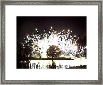 Fireworks At Epcot 2 Framed Print