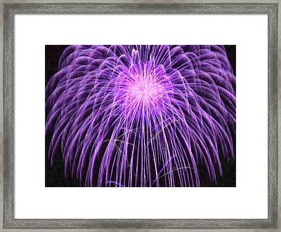 Fireworks At Night 2 Framed Print by Lanjee Chee