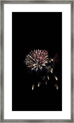 Fireworks At Night Framed Print