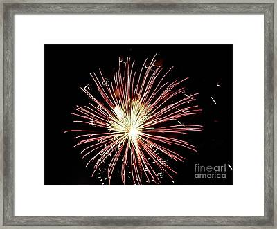 Framed Print featuring the digital art Fireworks By Aclay by Angelia Hodges Clay