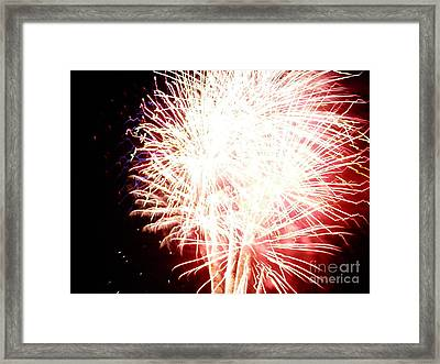 Framed Print featuring the digital art Fireworks By Angela by Angelia Hodges Clay