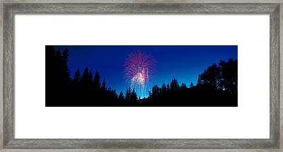 Fireworks, Canada Day, Banff National Framed Print by Panoramic Images