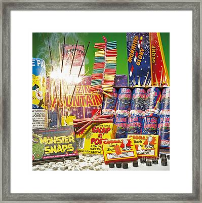 Fireworks Framed Print by Charles D. Winters