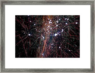 Framed Print featuring the photograph Fireworks by David Isaacson
