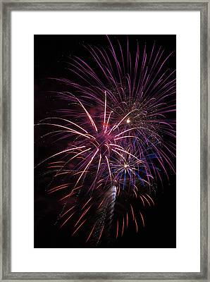 Fireworks Display  Astoria, Oregon Framed Print