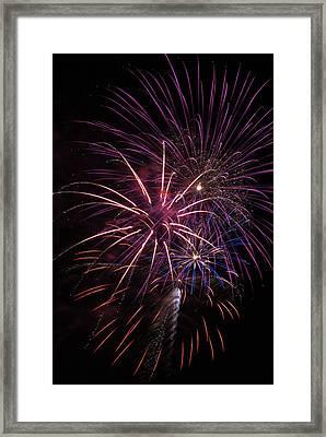 Fireworks Display  Astoria, Oregon Framed Print by Robert L. Potts
