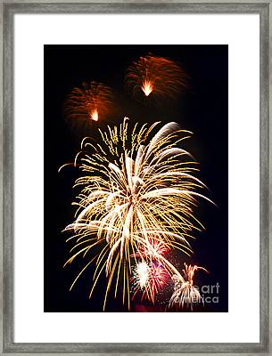 Fireworks Framed Print by Elena Elisseeva
