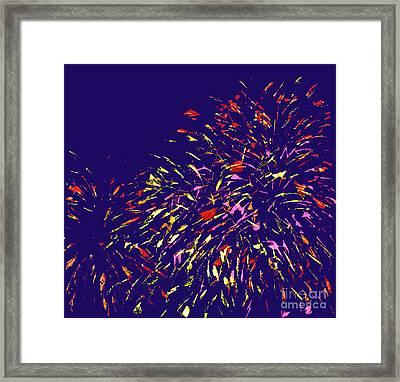 Fireworks Framed Print by Elizabeth Blair-Nussbaum