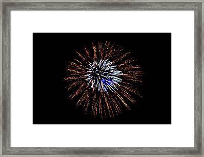 Fireworks Exposion Framed Print by Gene Walls