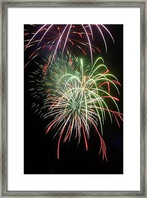 Fireworks Framed Print by Fabrizio Troiani