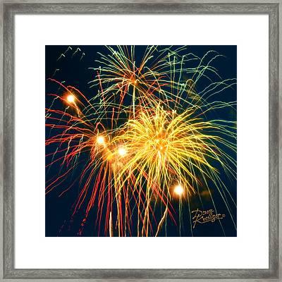 Fireworks Finale Framed Print