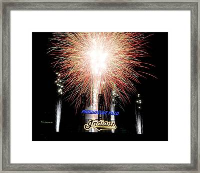 Fireworks Finale Framed Print by Frozen in Time Fine Art Photography
