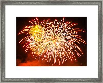 Fireworks Flower Framed Print by Robert Hebert