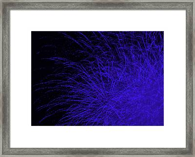 Fireworks In Blue Framed Print by Jacqueline Russell