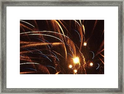 Fireworks In The Wind Framed Print by Anthony Dalton
