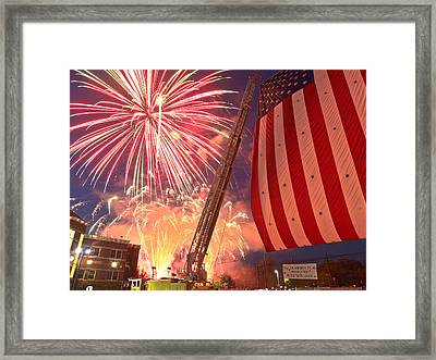 Fireworks Framed Print by Jim DeLillo