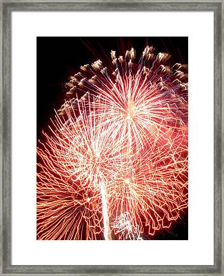 Fireworks Framed Print by Joseph Norniella