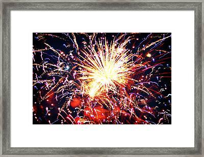 Fireworks Framed Print by Kara  Stewart