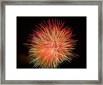Framed Print featuring the photograph Fireworks  by Michael Porchik