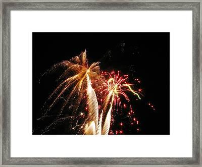 Fireworks On Display Framed Print by Steven Parker