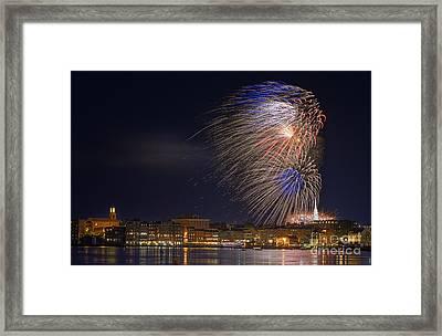 Fireworks Over Portsmouth N H  Framed Print