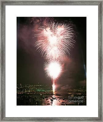 Fireworks Over Seattle Framed Print