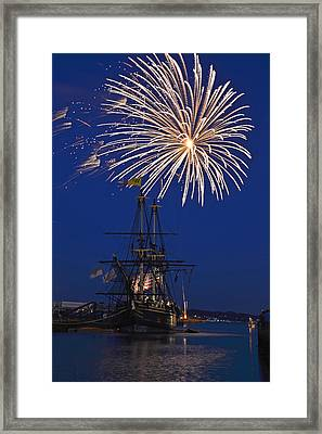 Fireworks Over The Salem Friendship Framed Print by Toby McGuire