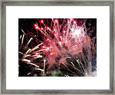 Fireworks  Framed Print by Paul Ganser