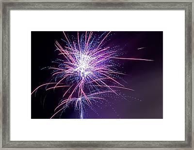 Fireworks - Purple Haze Framed Print