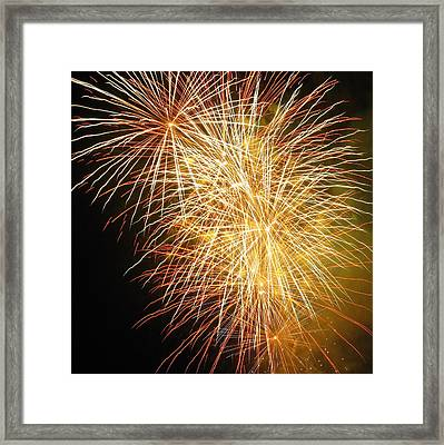 Framed Print featuring the photograph Fireworks by Ramona Johnston