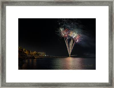 Fireworks San Lorenzo Al Mare 2013 1970 - Ph Enrico Pelos Framed Print