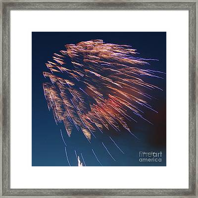 Fireworks Series I Framed Print by Suzanne Gaff