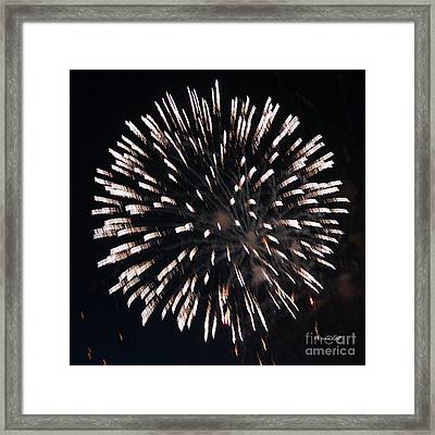 Fireworks Series X Framed Print by Suzanne Gaff
