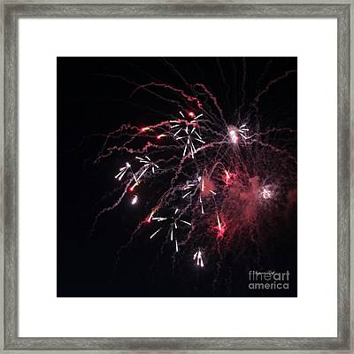 Fireworks Series Xi Framed Print by Suzanne Gaff