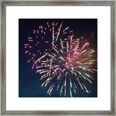 Fireworks Series Xiii Framed Print by Suzanne Gaff