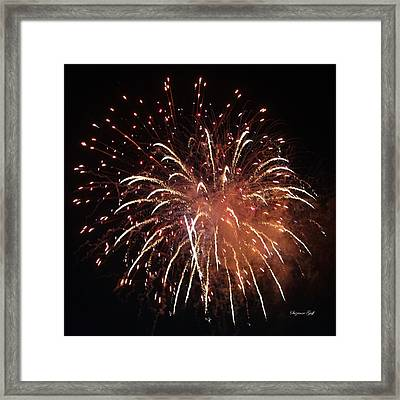 Fireworks Series Xv Framed Print by Suzanne Gaff