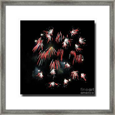 Framed Print featuring the photograph Fireworks Squared by Chris Anderson