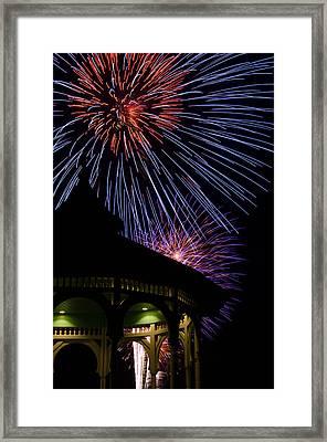 Fireworks Framed Print by Steve Myrick