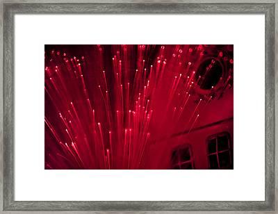 Fiber Optic Fireworks Framed Print