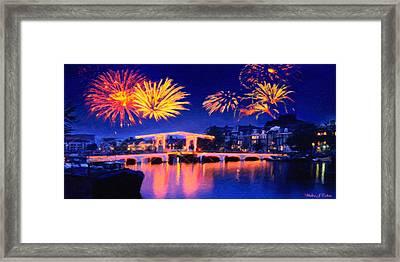 Fireworks Framed Print by Walter Colvin
