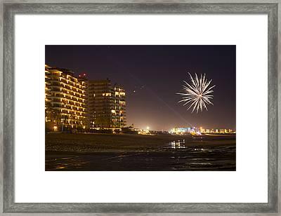 Fireworks  Framed Print by Wendi Curtis